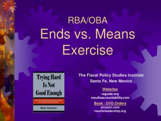 RBA/OBA Ends vs. Means Exercise