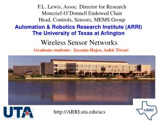 Automation  Robotics Research Institute ARRI The University of Texas at Arlington