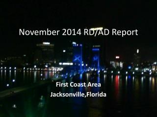 November 2014 RD/AD Report