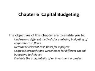 Chapter 6  Capital Budgeting