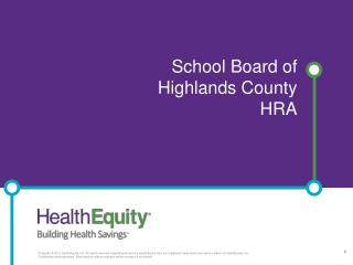 School Board of  Highlands County HRA