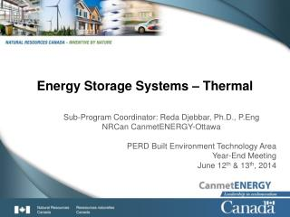 Energy Storage Systems –  Thermal