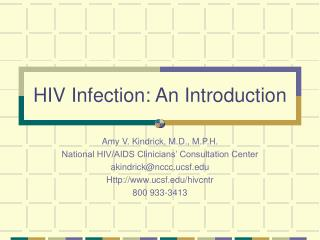 HIV Infection: An Introduction