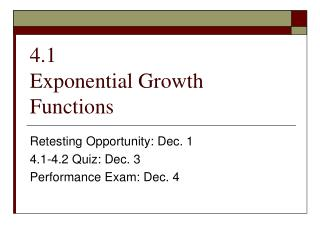4.1 Exponential Growth Functions