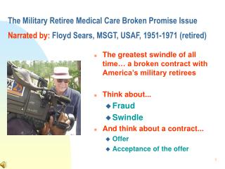 The greatest swindle of all time… a broken contract with America's military retirees