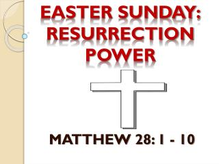 EASTER SUNDAY: RESURRECTION POWER