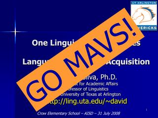 One Linguist's Perspectives on Language & Literacy Acquisition
