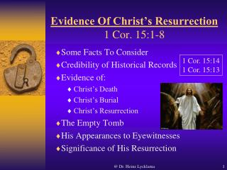 Evidence Of Christ's Resurrection 1 Cor. 15:1-8