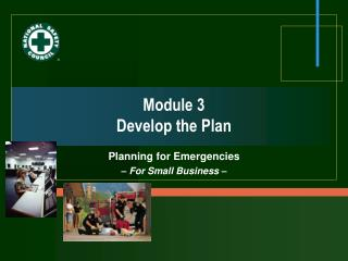 Module 3 Develop the Plan