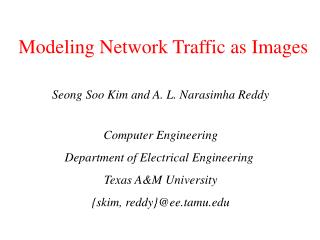 Modeling Network Traffic as Images