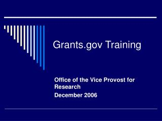 Grants Training