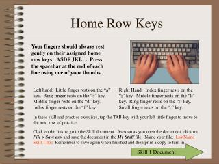 Home Row Keys