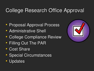College Research Office Approval