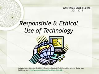 Responsible & Ethical Use of Technology