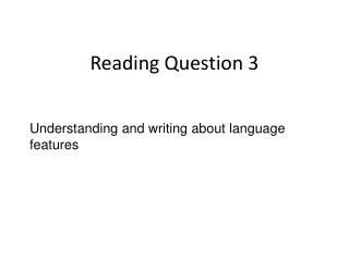 Reading Question 3