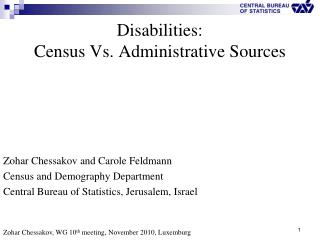 Disabilities: Census Vs. Administrative Sources
