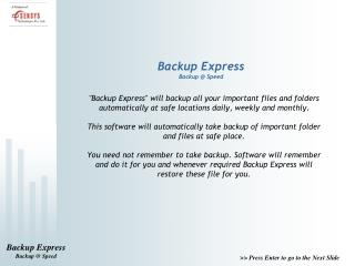 Backup Express Backup @ Speed