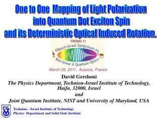 One to One  Mapping of Light Polarization  into Quantum Dot Exciton Spin