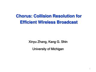 Chorus: Collision  Resolution  for Efficient Wireless Broadcast