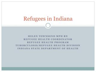 Refugees in Indiana