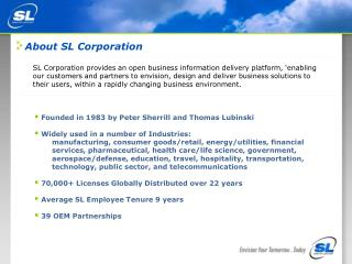 About SL Corporation