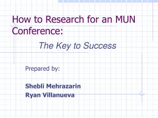 How to Research for an MUN Conference: