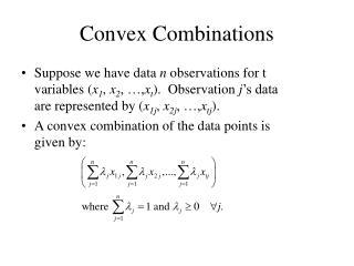 Convex Combinations