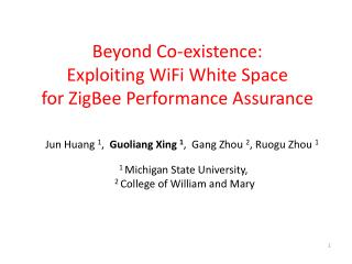 Beyond Co-existence:  Exploiting WiFi White Space for ZigBee Performance Assurance