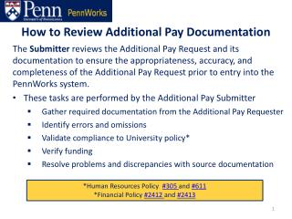 How to Review Additional Pay Documentation
