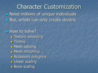 Character Customization