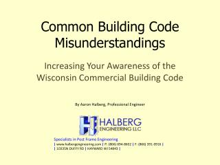 Common Building Code Misunderstandings