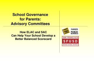 School Governance  for Parents:   Advisory Committees