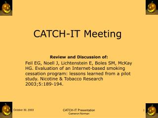 CATCH-IT Meeting