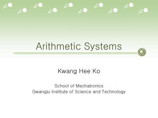 Arithmetic Systems