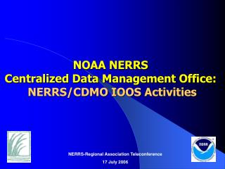 NOAA NERRS  Centralized Data Management Office:   NERRS