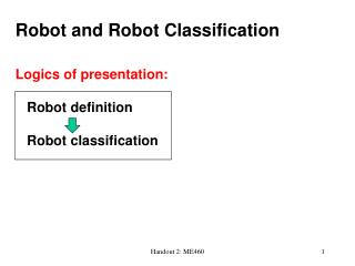 Robot and Robot Classification