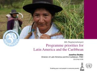 Programme priorities for  Latin America and the Caribbean