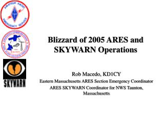 Blizzard of 2005 ARES and SKYWARN Operations