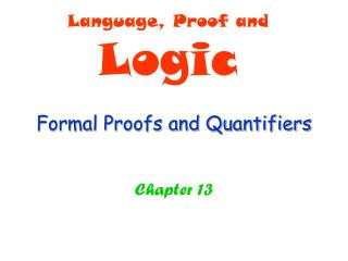 Formal Proofs and Quantifiers