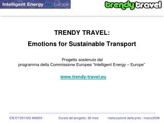 TRENDY TRAVEL: Emotions for Sustainable Transport