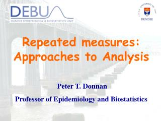 Repeated measures: Approaches to Analysis
