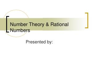 Number Theory & Rational Numbers