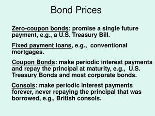 Bond Prices
