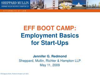 EFF BOOT CAMP: Employment Basics for Start-Ups