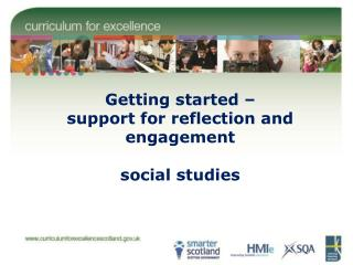 Getting started – support for reflection and engagement social studies