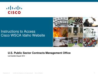 Instructions to Access Cisco WSCA  Idaho Website
