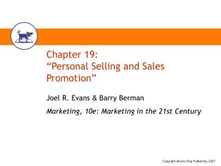 "Chapter 19: ""Personal Selling and Sales Promotion"""