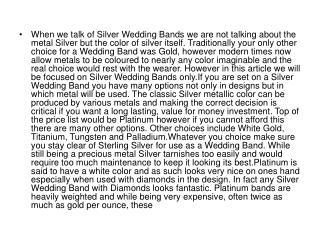 When we talk of Silver Wedding