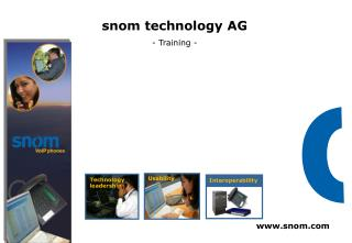 snom technology AG - Training -