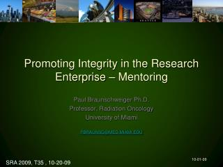 Promoting Integrity in the Research Enterprise – Mentoring